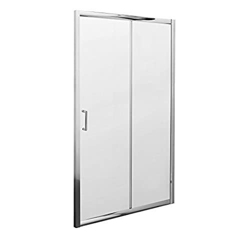 Milano Portland Sliding Shower Door with Safety Glass and Adjustable Aluminium Frame - 1950 x