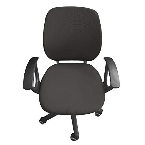 Jian Ya na Computer-Bürostuhl Bezug Schutz und dehnbar Universal Stuhl Bezüge drehbar Stuhl Bettüberwurf grau