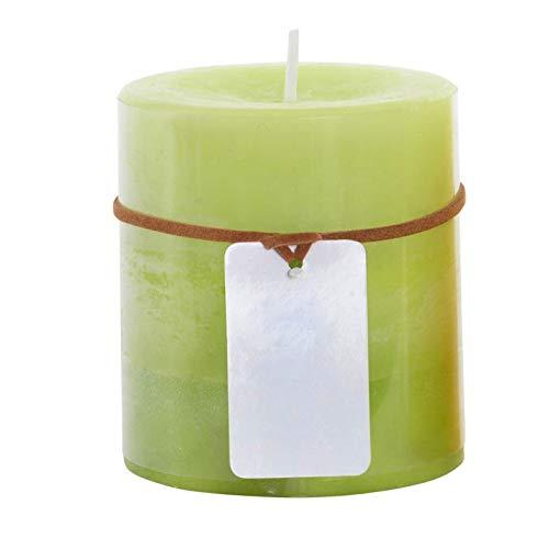 Vela Aromática/perfumada de Cera, 2 Modelos a Elegir. Decoración del Hogar, Diseño Elegante/Degradado 6,8X7,5 cm - Verde
