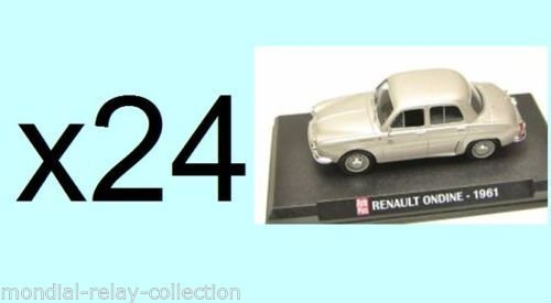 Générique Lot de 24 Voitures Renault Ondine 1961 1/43 - Collection Auto Plus - Voiture Collection