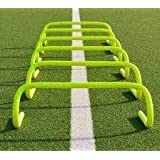 Roxan Vishwa Track and Field Speed Agility Hurdles, 6-inches (Parrot Green) - Pack of 6