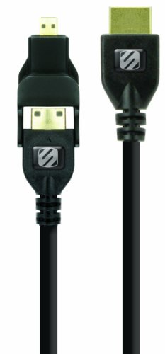 Scosche TrueView Multi Stecker mit Kabel Adapter Mini Speed HDMI 2 m schwarz