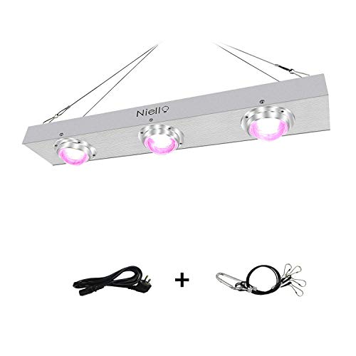 Niello 600w COB LED Pflanzenlampe Full Spectrum LED Grow Light with 120-Degree Reflectors with High Par Value and High Lumen for Hydroponics Greenhouse Indoor Plant Veg and Flower System
