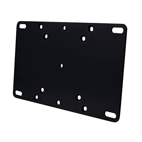 VESA Adapter für TV LCD LED Monitor Fernseher Wandhalterung 75/100 auf bis 200 x 100 Platte maße Halter TV-Wandhalter zur Erweiterung der VESA-Maße eines TV-Wandhalters Plasma Wandhalters Schwarz
