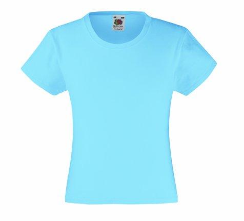 Mädchen T-Shirt Girls Kinder Shirt - Shirtarena Bündel 140,Pastellblau