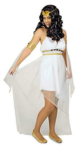 Göttin Kostüm Athena Zubehör - narrenkiste K31250664-36-38-A weiß Damen Griechin Römer Kostüm Gr.36-38