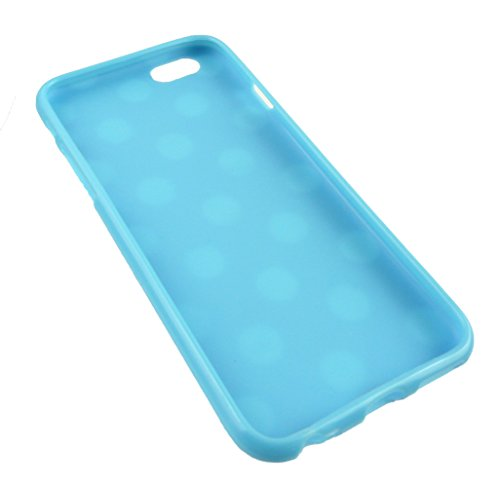 Emartbuy® Apple Iphone 6 6G 6S 4.7  Pollice Case Cover Custodia In Gel Paws Blu / Bianco Pois Gel