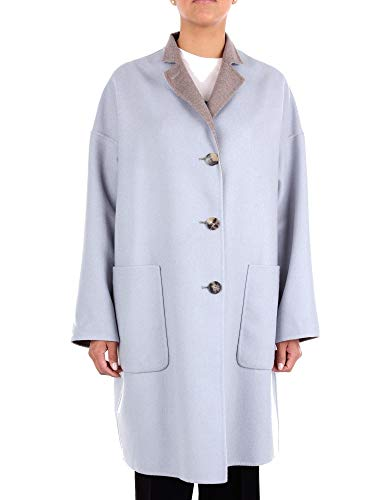 Alberto Biani Damen OD882WO0218LIGHTBLUE Hellblau Wolle Mantel 12