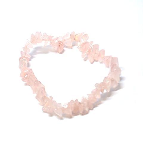 Rosa Rose Quartz Crystal Chip Gummizug Armband–Versandkostenfrei–Stein der bedingungslosen Liebe X