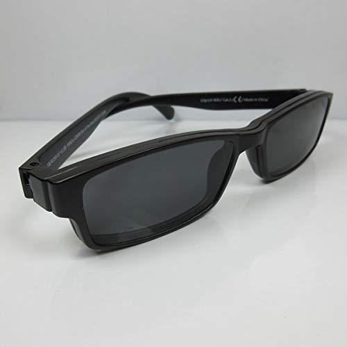 Getönte Lesebrille +3,0 schwarz mit Magnet Clip-on UV400 CAT.3 Lese-Sonnenbrille