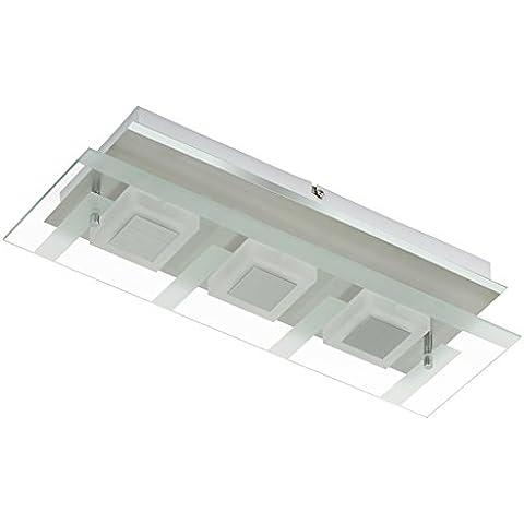 Briloner Leuchten lámpara de pared LED, 3 x 5 W, 400 lm, Matt-níquel 3569-032