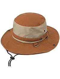 170ad435 DALL Bucket Hats LY-251 Spell Color Fashion Men's Cool Hat Visor Hat Sun  Cap Straw Hat Beach Hat Beach Fishing…