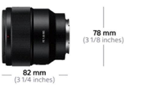 Sony SEL-85F18 Porträt Objektiv (Festbrennweite, 85 mm, F1.8,Vollformat, geeignet für A7, A6000, A5100, A5000 und Nex Serien, E-Mount) schwarz