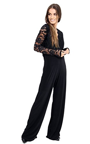 Rewatronics Damen Wickel Jumpsuit Gr. 46, schwarz