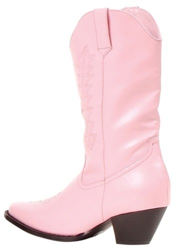 Ellie Girls Pink Cowgirl Boots