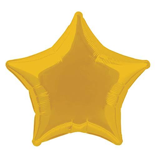 Unique Party Globo Foil Helio Estrella, Color Oro, 50 cm (53321)