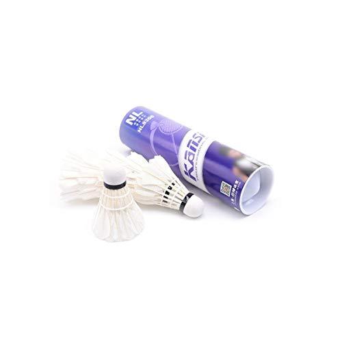 KEHUITONG Schaumkugelkopf, 3 / Zylinder, 6 / Zylinder, Entenfeder, Innen- und Außentraining Badminton Geeignet für alle, (Color : Purple)