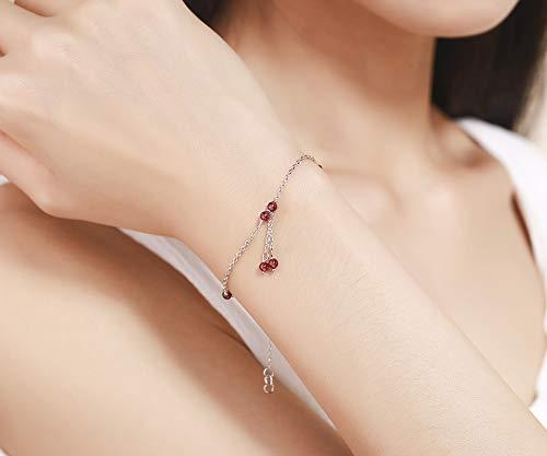 Imagen de xhbhp slim 925 sterling silver cross chain red red beads charms bracelets pulseras pulseira accessoires bracelete women best friend alternativa