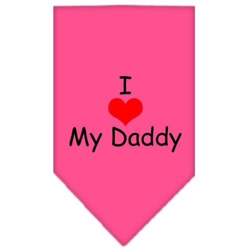 Artikelbild: Mirage I Heart My Daddy Screen Print Bandana für Haustiere