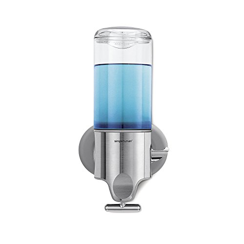simplehuman Wall Mount Pump, Stainless Steel, 444 ml - Single
