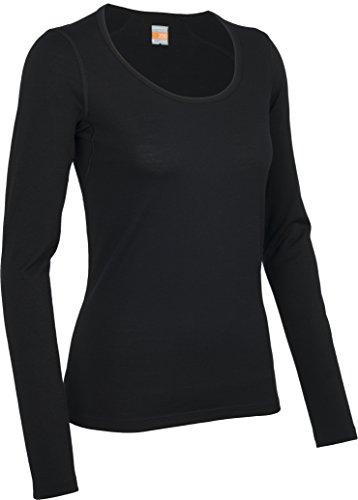 Icebreaker Damen Funktionsshirt Oasis LS Scoop, Black, XS, 100517001