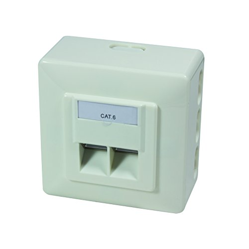 LogiLink Professional NP0006 Universal Anschlussdose mit 40 Grad Auslass
