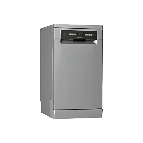 31nhmdbPJBL. SS500  - Hotpoint HSFO3T223WX 10 Place Slimline Freestanding Dishwasher with Quick Wash - Stainless Steel