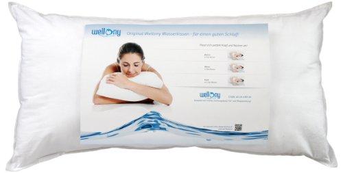Wellony Premium Wasserkissen, 40x80 cm, weiß - Polster / Nackenstützkissen