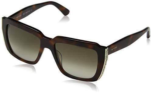 Etro et655s 214 54 occhiali da sole, marrone (havana), donna