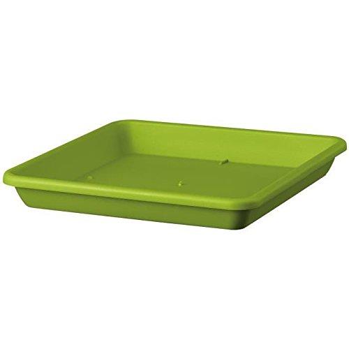 Deroma soucoupe carrée ponza - 33x33x4,7cm - vert olive