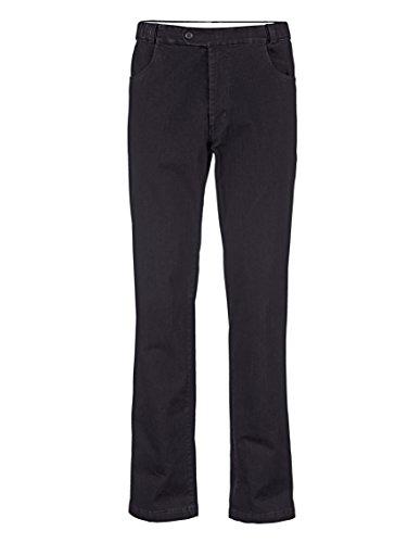 Herren Swing-Pocket Jeans Denim mit verdecktem Autofahrerbund Elastisch/Stretchanteil by Roger Kent Black