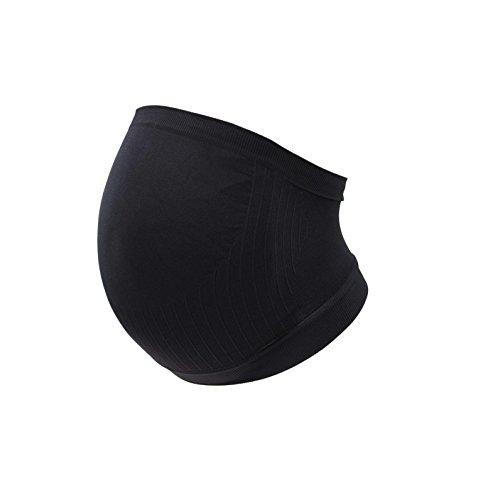 Fascia elastica per la gravidanza, senza cuciture, confortevole e supporto, Nero, CARRIWELL
