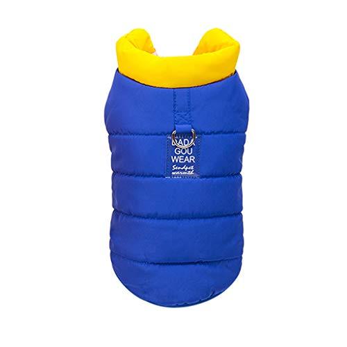 Pudel Rock Blauer Kostüm - T.boys's Haustier Hundemantel wasserdichte Winterjacke Warm Regenmantel gepolstert Puffer Weste, für Pudel kleine Hunde