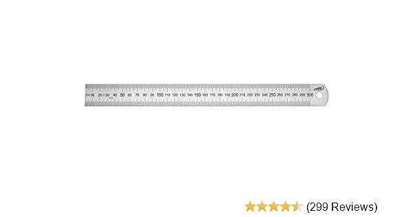 Biegsamer Stahl Maßstab links rechts 50 bis 400 cm 18 x 0,5 mm biegsam Lineal