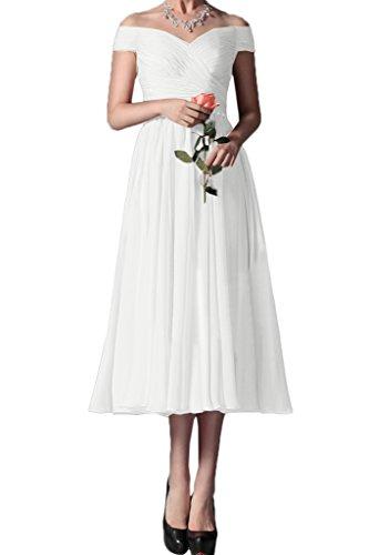 ivyd ressing Femme élégant à partir de la épaules mousseline knoeche llang Party robe Prom Lave-vaisselle robe robe du soir Weiß