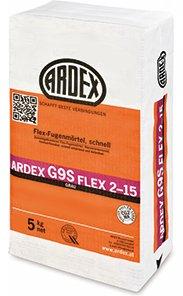 """ARDEX G9S Flex-Fugenmörtel 2-15mm 5kg, Farbe\""""grau\"""" schnell, speziell für Balkone und Terrassen"""