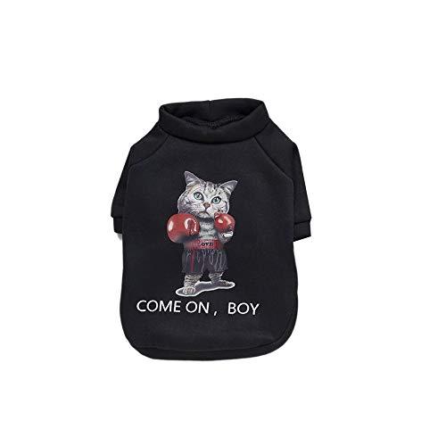 RoadRoman Stilvolle Hundebekleidung Boxen-Katze-Muster-weiche Baumwoll Pullover Hemd für Hunde