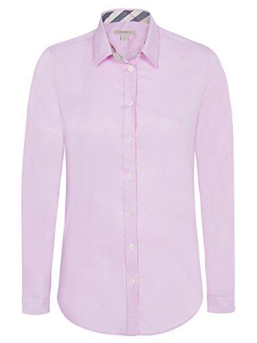 burberry-chemisier-femme-chic-shirt-stretch-rose-vintage-m