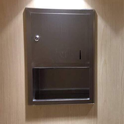 NDY Taschentuchbox Wandmontage Wandeinbau Toilettenpapierhalter Edelstahl-Papierhandtuchhalter Gewerbliche Badetuchbox Badzubehör,B