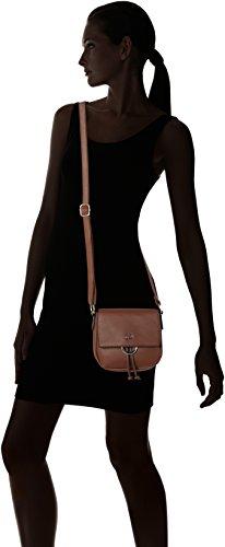 GERRY WEBER Damen Flash Over Shoulderbag Svf Umhängetasche, 4x16x18 cm Braun (Cognac Old)