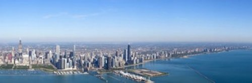 Panoramic Images - Aerial view of a cityscape Trump International Hotel And Tower Willis Tower Chicago Cook County Illinois USA Photo Print (45,72 x 15,24 cm) -