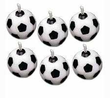 Wilton Set Velas balón de fútbol, 6 Unidades, Centimeters