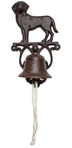 SIDCO Türglocke Gußeisen Hund Türklingel Wandglocke Gartenglocke Landhaus Glocke