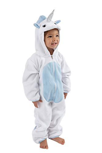 Cuddle Club Fleece-Wimpelkette für Neugeborene bis 4T - Baby Pyjama Winterjacke Oberbekleidung Mantel Kleinkind Kostüm - Blau - 4 Jahre (Warme Kostüm Für Kleinkind)