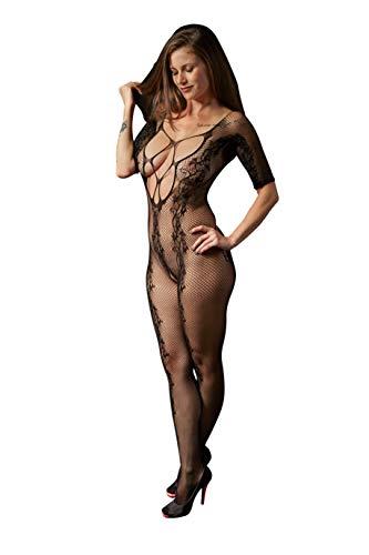 MissKa Lingerie - Dessous für den besonderen Moment - sexy Bodystocking aus speziell entwickeltem Netzstoff (ouvert) in hochwertiger Geschenkbox, dehnbare Einheitsgröße (XS - XL/passion de ()