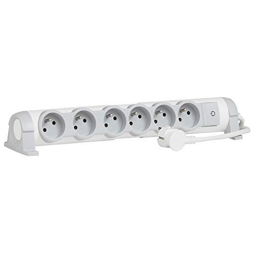 Legrand - Rallonge Bloc Multiprise - 6 prises avec Interrupteur - Blanc - 2P + T - 050084