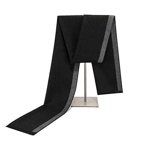 ANAZOZ Bufandas Algodón Mujer Niña Jacquard Negro Gris 180cm Otoño Invierno Bufanda de Clima Frío...