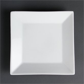 Olympia C360Quadratischer Teller breit Rand, weiß (6Stück) Plate Wide Rim