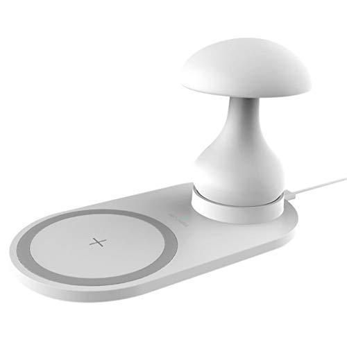Webla Kreative Wireless-Ladegerät 3 in 1 Pilz Lampe Multifunktions 10W Domestic Schnellladung Wireless Charging, Abs -