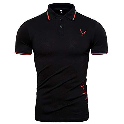 BHYDRY Mode Persönlichkeit Männer Sommer beiläufige dünne Kurzarm T-Shirt Top Bluse
